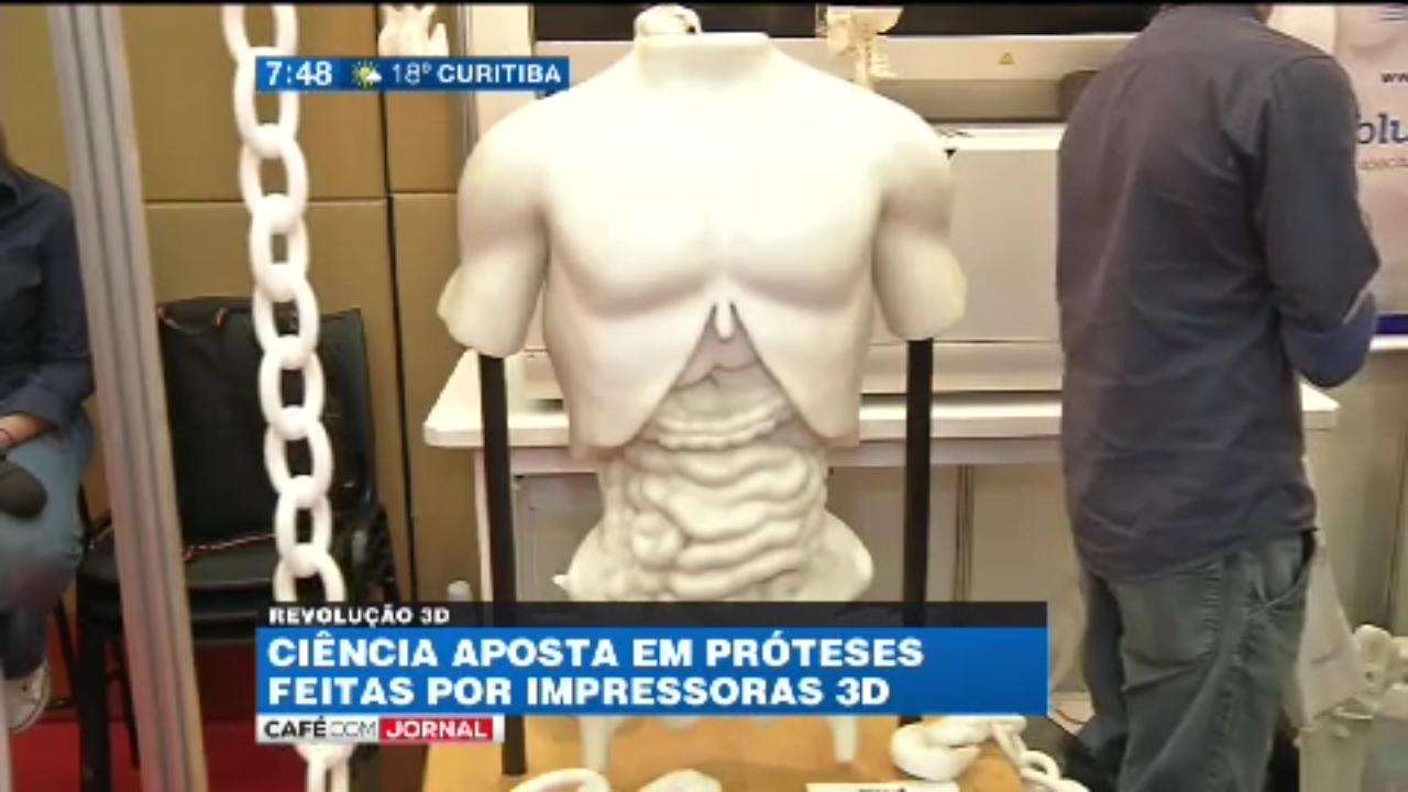 Inside 3D Printing no Café com Jornal, exibido em 10/03/2015